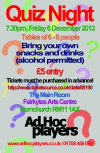 ad hoc quiz night