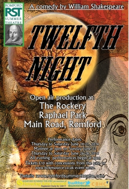 RST Twelfth Night poster and flyer smaller lettering.indd
