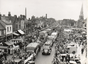 Romford Carnival through the market