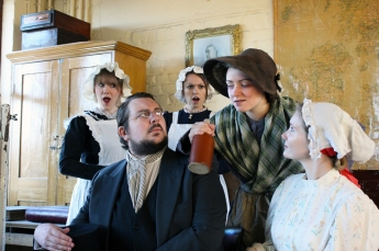 James Knowles as Dr Barnardo and Lauren Frost as Syrie Elmslie
