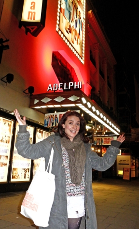 A Star is Born. Gemma Salter outside the Adelphi theatre