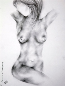 Zoe's spectacular drawing of a nude