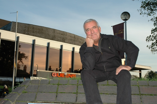 Dave Ross outside the new Queen's Theatre, Hornchurch. pic Barry Kirk